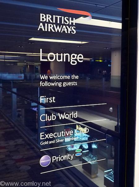 Singapore Changi airport terminal1 'BRITISH AIRWAYS Lounge'