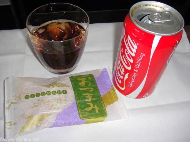 デルタ航空 DL948 成田 - グアム ビジネスクラス機内食