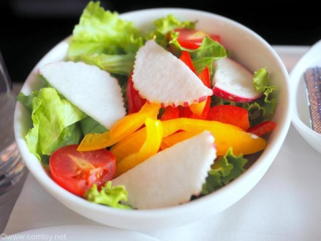 マレーシア航空 MH783 バンコク ー クアラルンプール ビジネスクラス機内食 Garden Salad