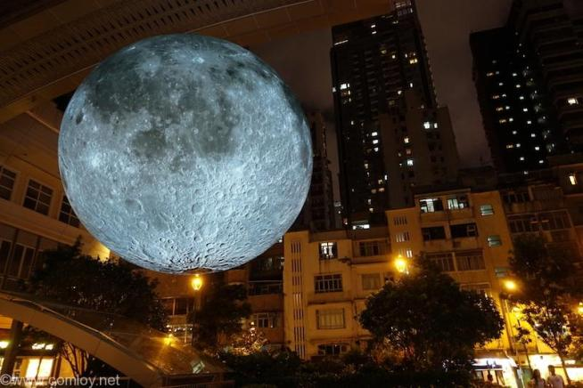 Museum of the Moon hongkong Artwark by Luke Jerram