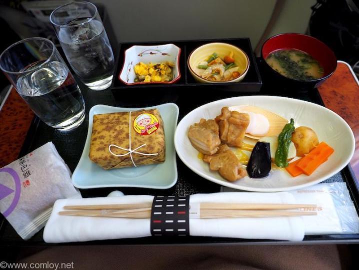日本航空 JAL906 那覇 - 羽田 ファーストクラス 機内食