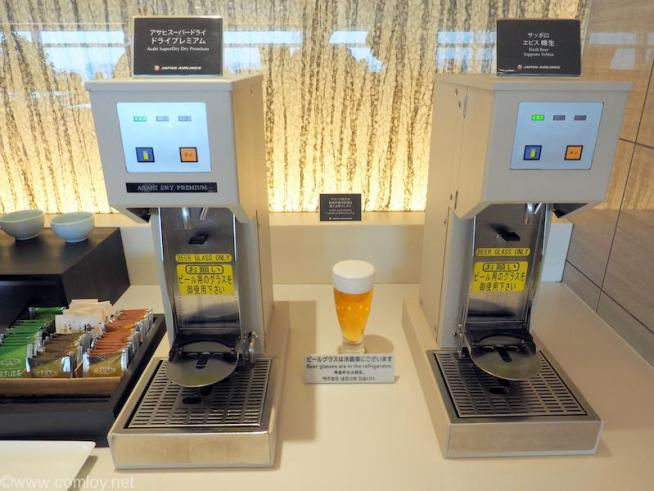 JAL First Class Lounge ビールサーバー