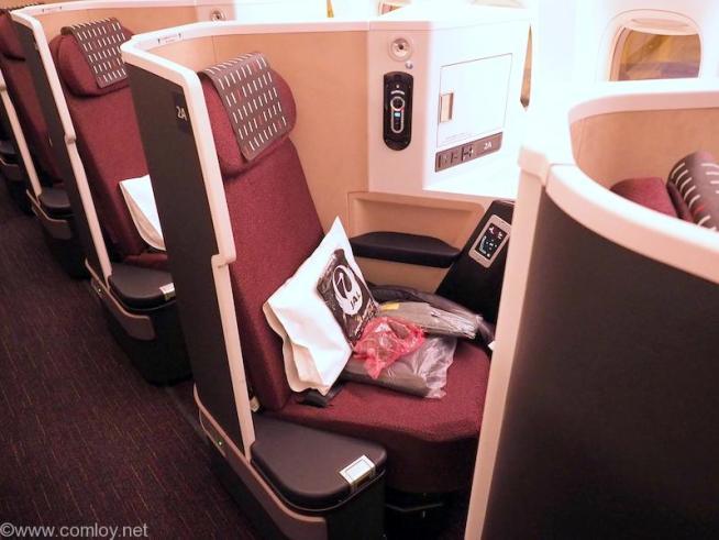 日本航空 JL34 バンコク - 羽田 ビジネスクラス シート