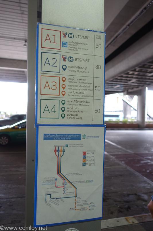 ドンムアン空港 エアポートバス行先標
