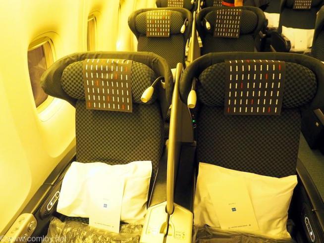 日本航空 JL99 羽田 - 台北(松山)ビジネスクラス座席2