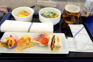 全日空 ANA245 羽田 - 福岡 プレミアムクラス 機内食