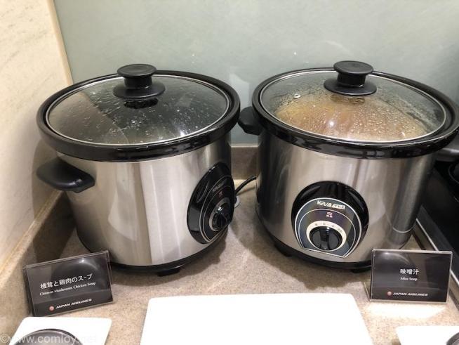 日本航空 桃園空港ラウンジ スープ類