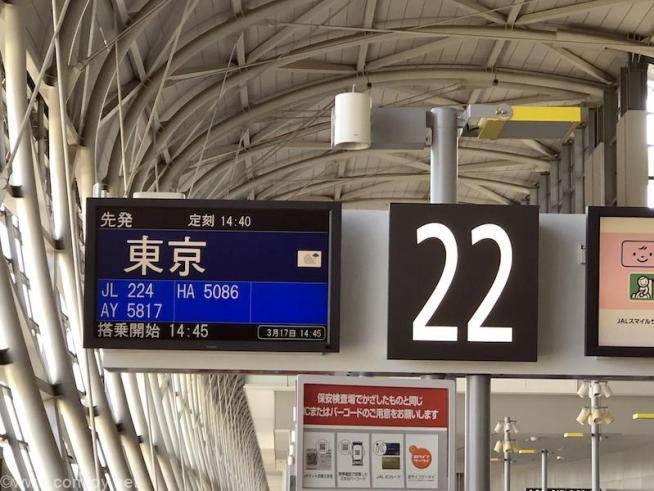 日本航空 JAL224 関西 - 羽田 ボーディング