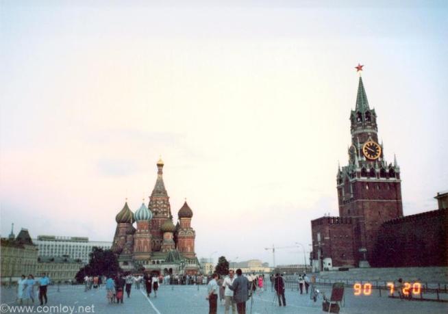 1990年当時の赤の広場