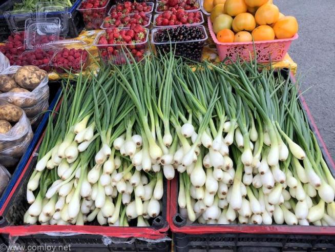 ウラジオストク 中央広場マーケット 野菜売り場