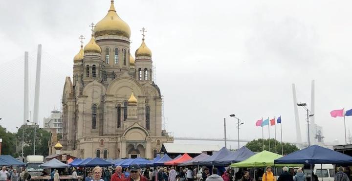 ウラジオストク中央広場マーケット