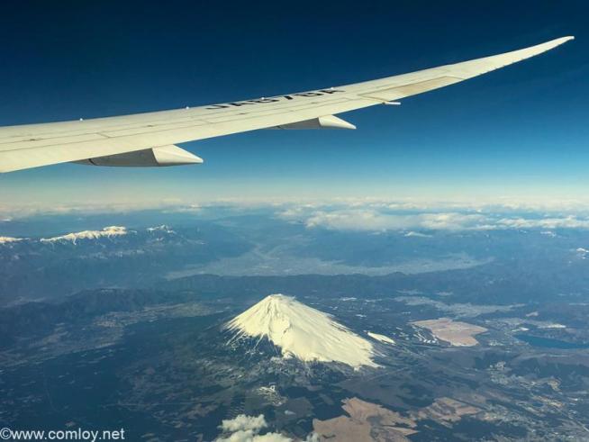 全日空 NH853 羽田 - 台北(松山) 富士山