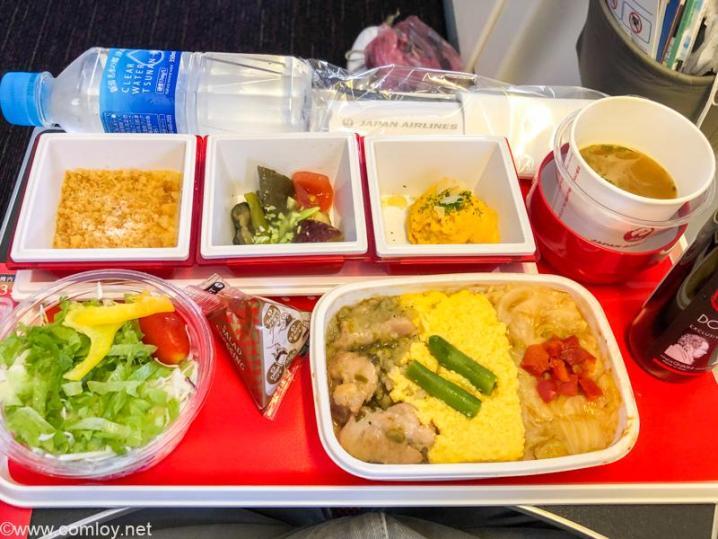 日本航空 JL006 羽田 - ニューヨーク プレミアムエコノミークラス機内食