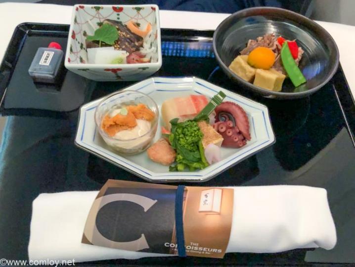 全日空 NH807 成田 - バンコク ビジネスクラス機内食