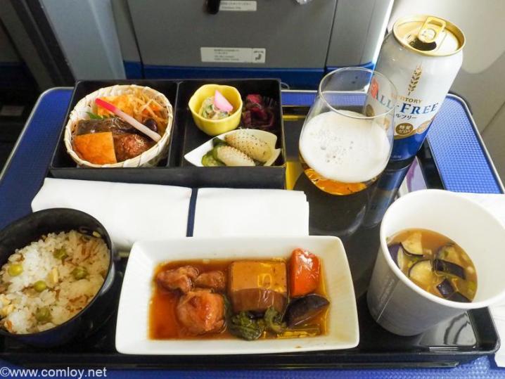 全日空 ANA462 那覇 - 羽田 プレミアムクラス 機内食