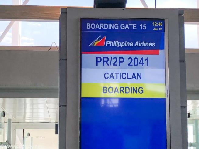 フィリピン航空 PR2041 マニラ - カティクラン(ボラカイ)ボーディング
