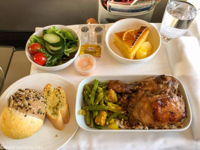 マレーシア航空 MH780 クアラルンプール - バンコクビジネスクラス機内食