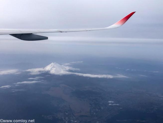 日本航空 JAL919 羽田 - 那覇 今日の富士山