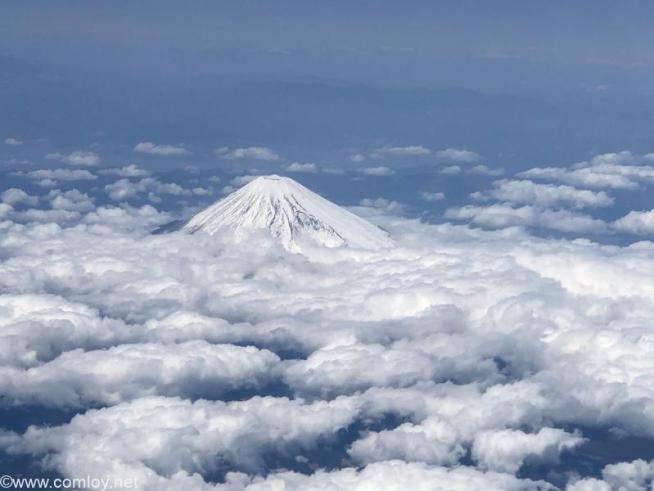 日本航空 JAL915 羽田 - 沖縄 今日の富士山