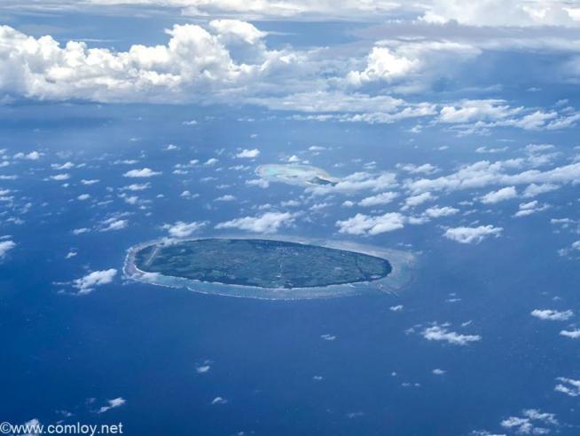 多良間島上空を通過中