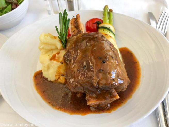 マレーシア航空 MH70 クアラルンプール - 成田 ビジネスクラス機内食 (Chef-on-Call) Braised Lamb Shank