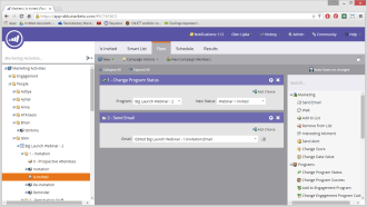The Smart Campaign is the workhorse of Marketo, it does everything. The flow is basically a workflow engine.