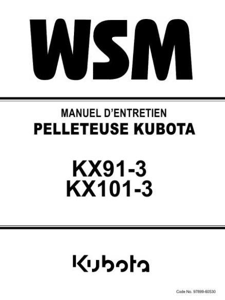 Kubota KX91-3 manueld de serice