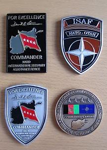 Variants 1-4 of the GEN Petraeus COMISAF Challenge Coin
