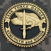 TF Dagger Commemorative Challenge Coin - Second Overseas Version: Obverse
