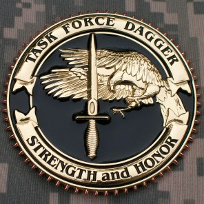 TF Dagger Commemorative Challenge Coin - Version 3: Obverse
