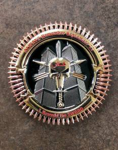 TF Dagger Commemorative Challenge Coin - Version 2: Obverse