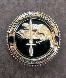 TF Dagger Commemorative Challenge Coin - Version 1: Obverse