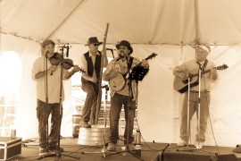 L-R: Robbie - fiddle; Scott Lee Schmied, bass; Joe Eves, banjo; Joe King, guitar.