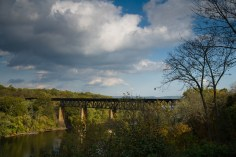 Trestle across the Potomac River viewed from James Rumsey Monument Park