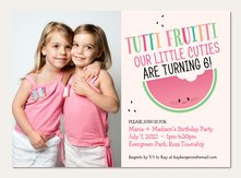 twin birthday invitations simply to