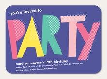teen birthday invitations simply to