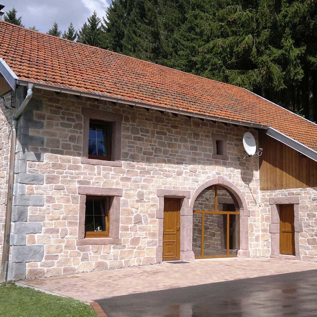 ravalement de façade et imitation pierre 88 Vosges