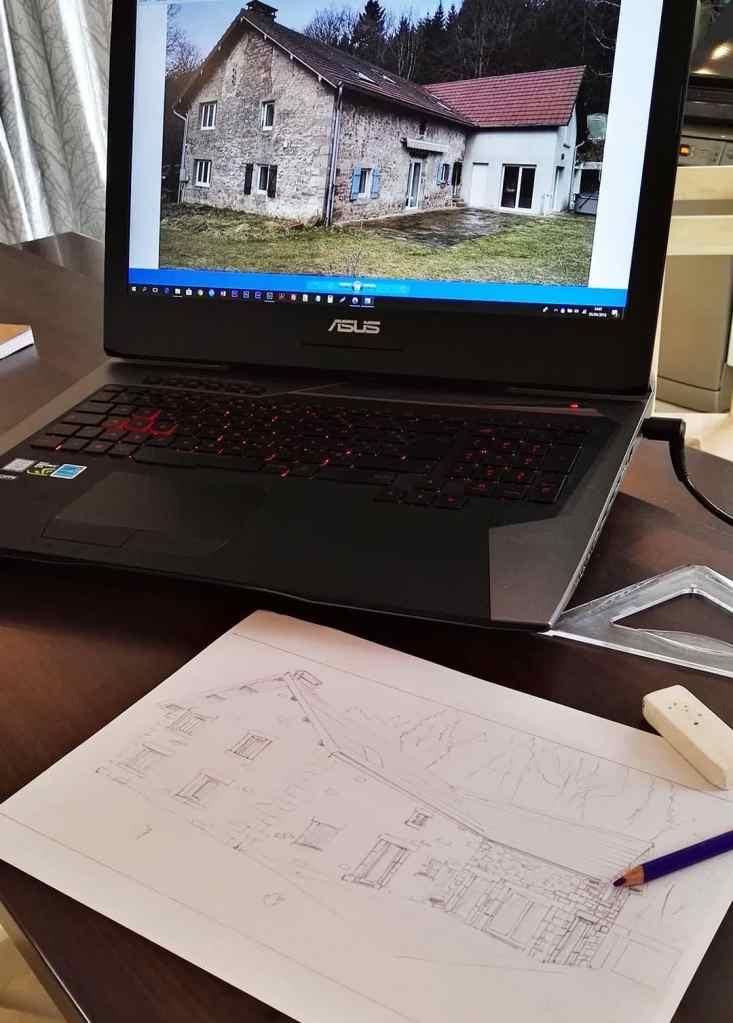 étude-et-croquis-projet-ravalement-de-façade-avec-imitation-pierre-1