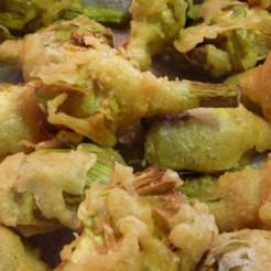 Apetitosa alcachofa en tempura 1