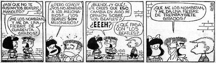 Mafalda y Los Beatles
