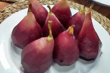 Peras al vino 9