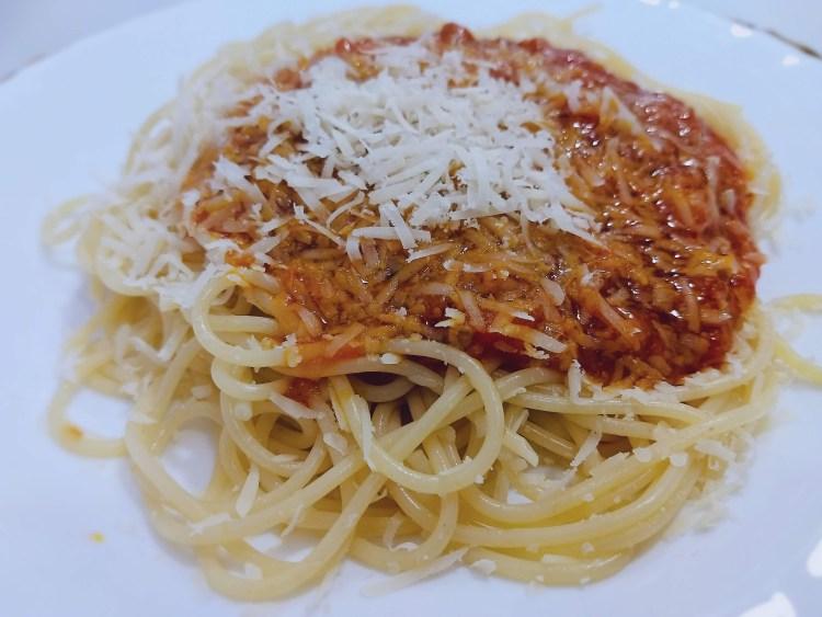 Espaguetis a la Boloñesa 1