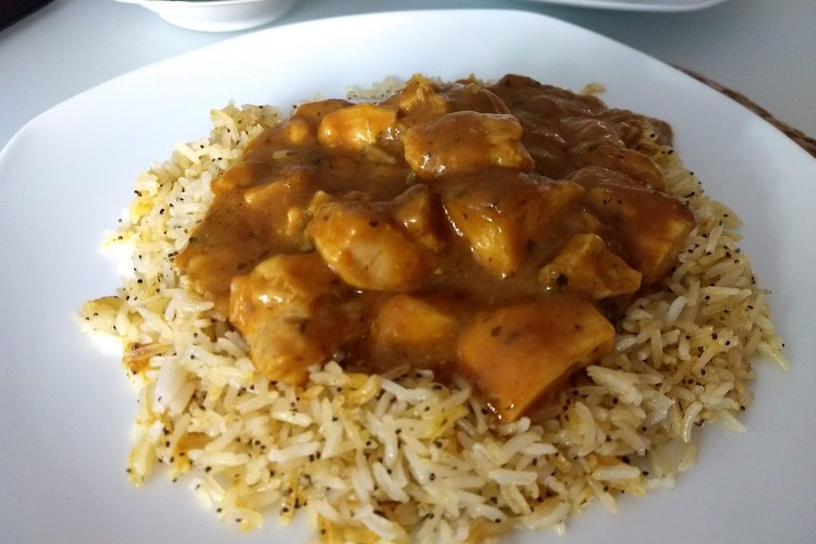 Pollo al curry  con arroz basmati en 30 minutos 1