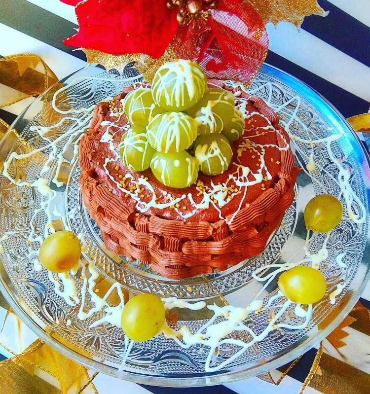 Tarta de coco, uva y chocolate para la Nochevieja 1