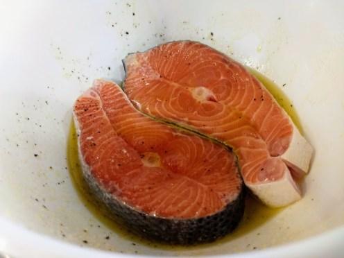 Bol con el salmón