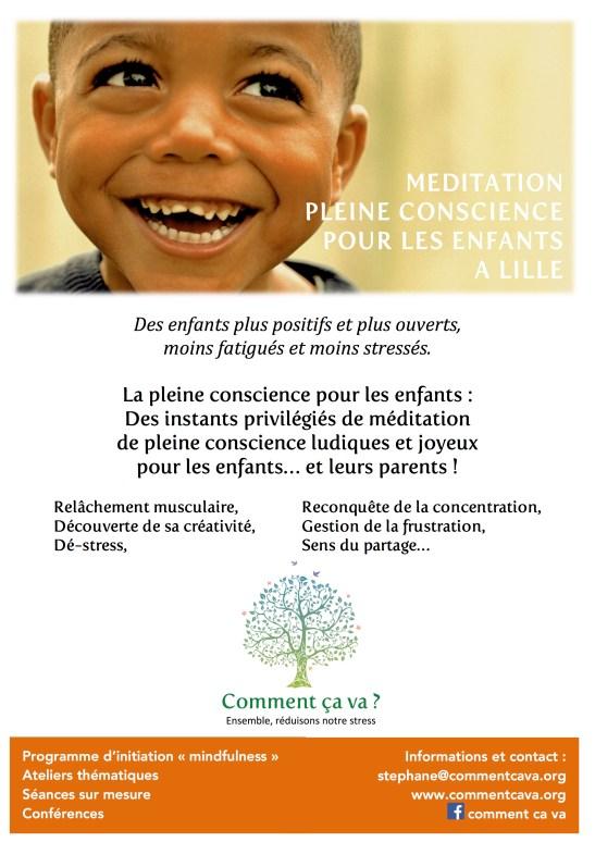 Affiche A4 mindfulness enfants sep15