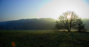 Lever de soleil sur la campagne du Monts des Cats.