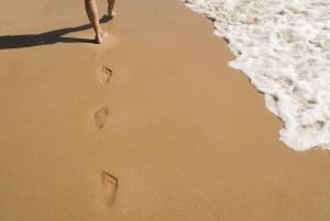marcher sable impermanance changement vie bouddha meditation lille