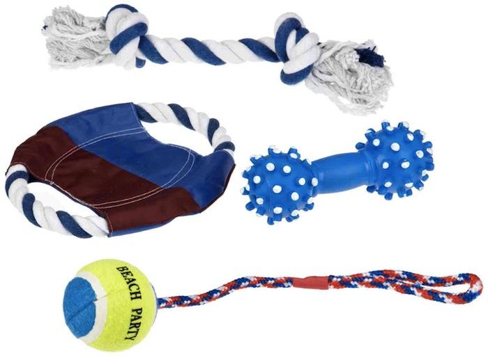Set de 4 jouets pour chien par Trixie