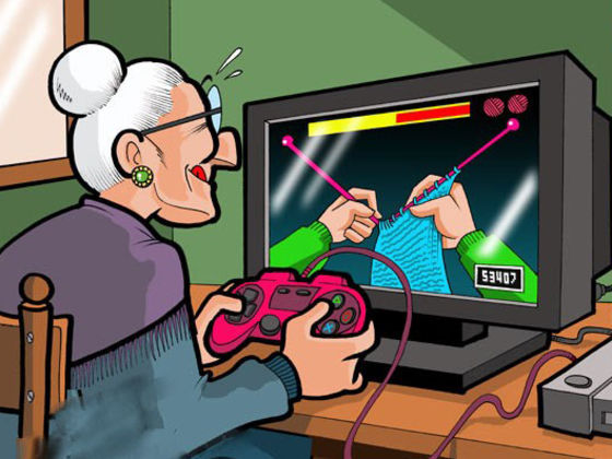 Image result for screen addiction senior citizens animated